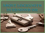 ABOUT LOCKSMITH IN EDMOND OK