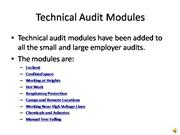 ISEBASE Technical audit