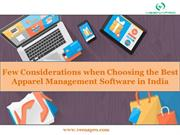 Few Considerations when Choosing the Best Apparel Management Software
