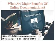 What Are Major Benefits Of Online Documentations