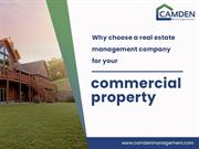 Choose A Real Estate Management Company For Your Commercial Property