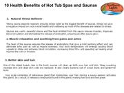 10 Health Benefits of Hot Tub Spas and Saunas