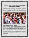 Join Best Music School in Singapore to Enjoy the Pleasures of Music