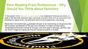 Palm Reading From Professional – Why Should You Think About Palmistry