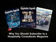 Why You Should Subscribe to a Hospitality Consultants Magazine