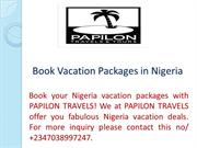 Book Vacation Packages in Nigeria