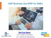 SAP Business One ERP for SMEs