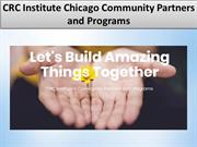 CRC Institute Community Partners and Programs