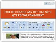 Edit or Change any RTF file with RTF Editor Component