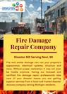 Providing Fire Damage Repair - Disaster MD