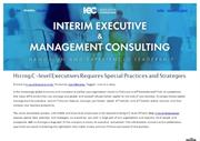 Benefits To Hire A C-Level Executive - IE Consulting LLC