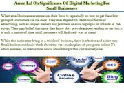 Aaron Lal On Significance Of Digital Marketing For Small Businesses