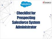 Checklist for Prospecting Salesforce System Administrator