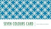 Plan your marriage with seven colours card wedding invitations