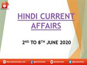 ppt hindi current affairs 2nd to 8th june 2020