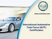 IATF 16949 Certification for Automotive Sector India