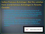 Astrologer in Toronto – Indian Famous Astrologer: