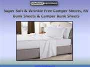 Super Soft & Wrinkle Free Camper Sheets, RV Bunk Sheets & Camper Bunk