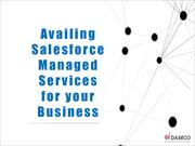 Availing Salesforce Managed Services for your Business