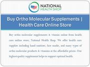 Buy Ortho Molecular Supplements | Health Care Online Store