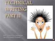 Technical Writing Part II
