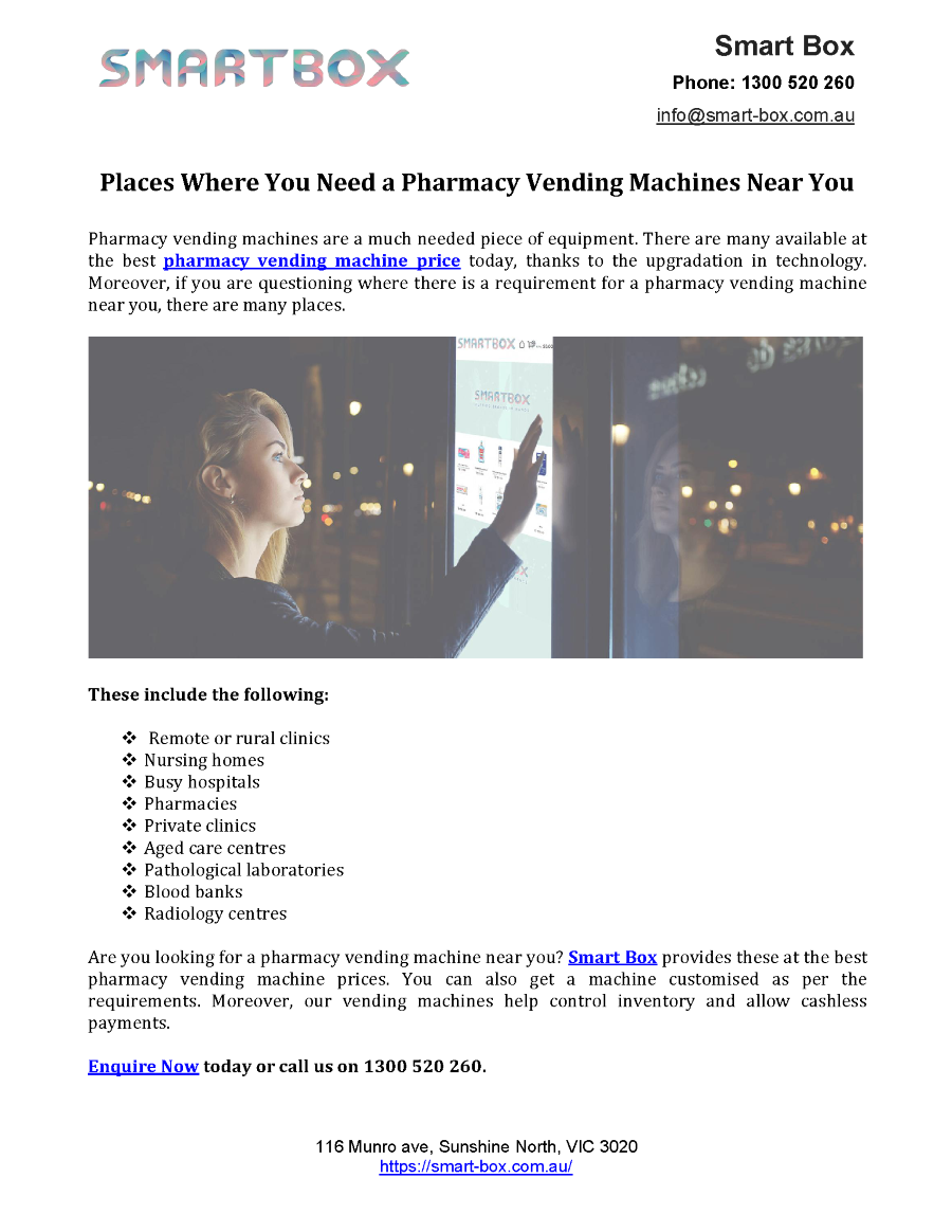 Places where You Need a Pharmacy Vending Machines Near You ...