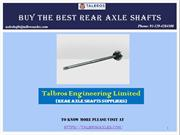 Buy The Best Rear Axle Shafts In India