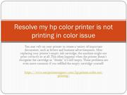 Resolve my hp color printer is not printing