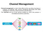 Channel Management - Marketing