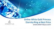 Online White Gold Princess Eternity Ring at Best Price - Eternity Us