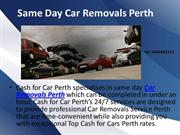 Same Day Car Removals Perth