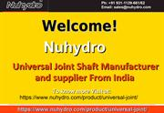 Universal Joint Cross Manufacturers-Nuhydro