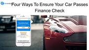 How Free Car Finance Check Helps You To Pick The Right Used Car