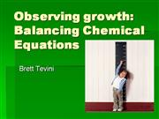 Balancing Chemical Equation