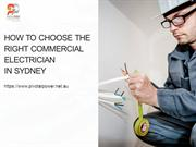 How to Choose the Right Commercial Electrician in Sydney