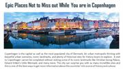 Epic Places Not to Miss out While You are in Copenhagen