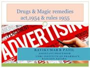 Drugs & Magic Remedies Act 1954 & Rules 1955