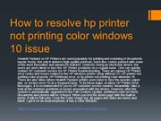 How to resolve hp printer not printing color