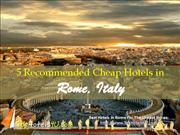 5 Recommended Cheap Hotels in Rome