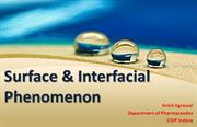 SURFACE & INTERFACIAL TENSION