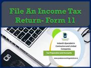 File An Income Tax Return- Form 11