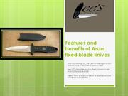 Anza Fixed blade knives | Lee's Cutlery
