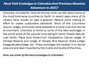 Must Visit Ecolodges in Colombia that Promises Absolute Adventure