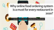 Why online food ordering system is a must