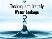 Technique to Identify Water Leakage