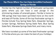 Top Places Where You Can Enjoy Incredible Freshwater Springs