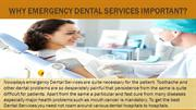 Why Emergency Dental Services important