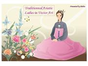 Asiatic ladies vector