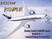 AVIATION 1st Assignment