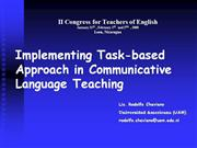 Implementing Task-based Approach in ELT